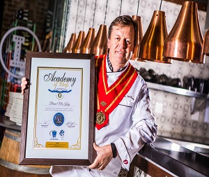 Bruce McKay is inducted into Academy of Chefs