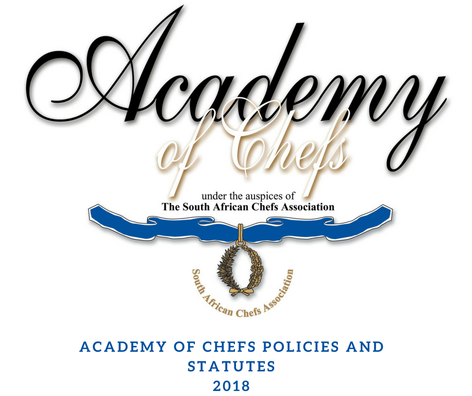 ACADEMY OF CHEFS POLICIES AND STATUTES 2018